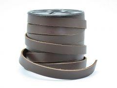 Flachleder weich - 11x2 mm - dunkelbraun