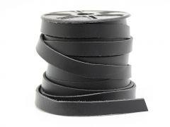 Flachleder weich - 11x2 mm - schwarz