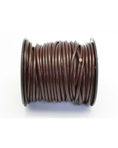 Lederband - Rindsleder - 4 mm Ø - braun - Meterware
