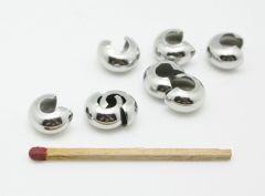 Kaschierkugel aus Edelstahl - 8mm Ø - silberfarben